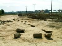 Nalezen byl např. i kostel a kovárna