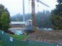 Probíhající výstavba lázní říjen 2014