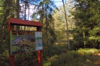 Začátek naučné stezky Dářská rašeliniště – NPR Dářko