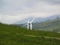 Pohled na větrné elektrárny.