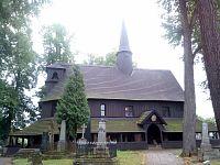 Dřevěný hřbitovní kostel Broumov