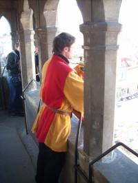 Trubač na věži