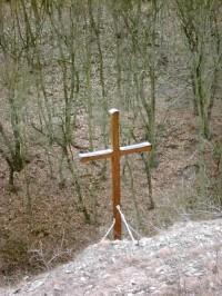 Kříž  místo kostela sv. Prokopa