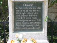 detail desky na hrobě J.Š.Baara