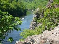 pohled na štěchovickou přehradní nádrž