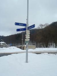Rozcestí Hanušovice U pivovaru - 18.2.2012