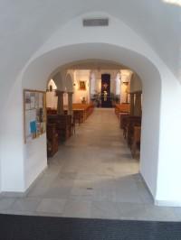 Pohled do interiéru kostela sv. Jiljí Líšeň - 6.3.2012