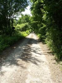 První metry stoupání po zelené značce z údolí Kyjovky - 27.5.2012