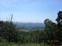 pohled směrem na Teplice,ale už níže asi z půlky kopce