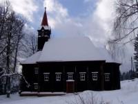 Dřevěný kostelík Panny Marie na Gruni