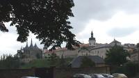 Kutná Hora pohled na sv.Barboru a jezuitskou kolej