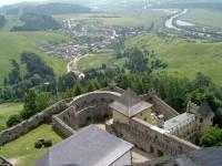 Stará Ľubovňa pohled z věže hradu