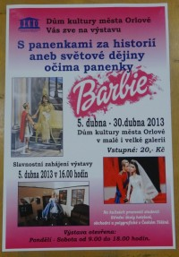 Orlová-výstava Barbie s panenkami za historií