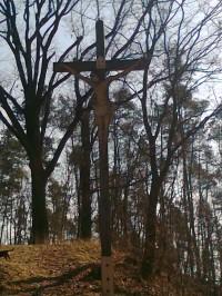 Úsov - dřevěný kříž na Křížové hoře