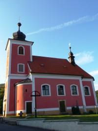 obec Horní Lhota - kostol a okolité pamiatky