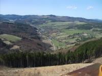 pohľad na Zubák z rozhľadne na Tlstej hore 651 m.n.m.