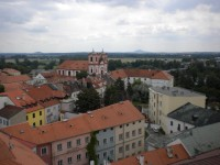Historická zástavba města Litoměřice.
