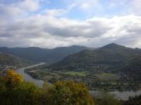 Labské údolí směrem k Ústí nad Labem.
