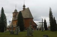 Dřevěný kostel Svaté Kateřiny v Ostravě - Hrabové - pohled ze zahrady