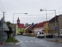 Velká Bystřice-Radnice od obchodního domu-Foto:Ulrych Mir.