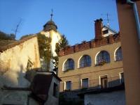 Velká Bystřice-kostel od Vrtůvky-Foto:Ulrych Mir.