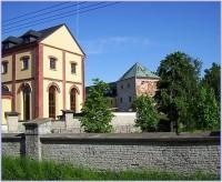 Velká Bystřice-pohled na zámek a část zámeckého pivovaru od západu-Foto:Ulrych Mir.
