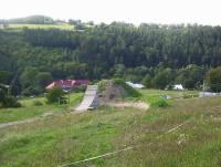 Hlubočky-ves-Skiareál-svah a údolí pod areálem-Foto:Ulrych Mir.