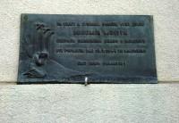 Holešov-pamětní deska Bohumíra Mostýna
