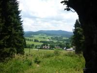 výhled od kaple na Strážný