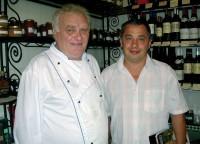 Frédéric Lasne (vpravo) se svým šéfkuchařem Jeanem Philippem Roubatcheffem.