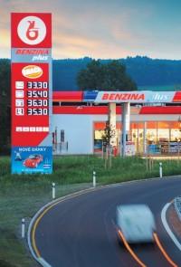 Nabídka rychlého občerstvení u Benziny plus