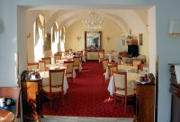 Interier jídelny jednoho z nejkrásnějších hotelů - Belvedere