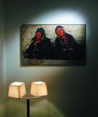 V suterénu můžete navštívit skvělou výstavu portrétů Markéty Kratochvílové.