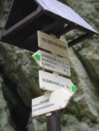Turistické rozcestí Pod Čertovým mostem