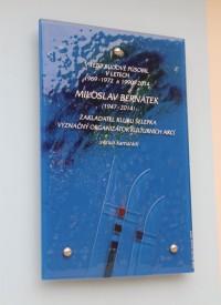 Brno - pamětní deska Miloše Bernátka