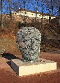 Brno-park Špilberk - socha Jana Skácela