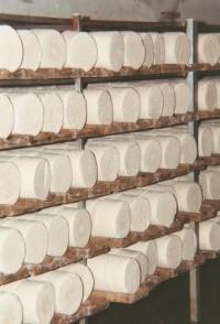 Jeskyně Michálka - detail sýrů, snímek je z roku 1999