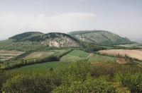 Pavlovské vrchy - pohled na hlavní hřeben - léto 2009