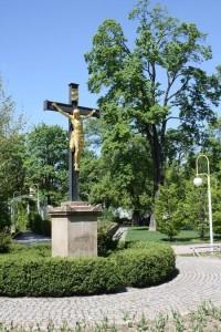Brno - Tyršův sad - ústřední litinový kříž