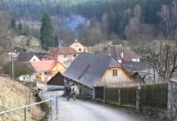 Chlébské - pohled na dolní část obce