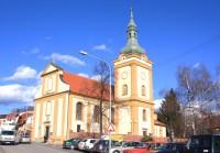 Šlapanice - kostel Nanebevzetí Panny Marie