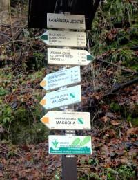 Turistické rozcestí Kateřinská jeskyně
