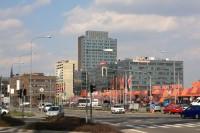 Pohled na Spielberk Office Centrum s dominantou Spielberk Tower B