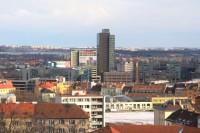 Spielberk Tower B z vyhlídky Jaroslava Foglara