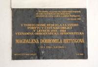 Ústí nad Orlicí - pamětní deska Magdaleny Dobromily Rettigové.