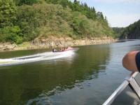 Výlet rychlou lodí po přehradní nádrži Orlík