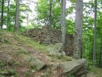Kaltenštejn - zbytky zdiva