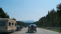 Cesta do Toskánska - německá dálnice u Mnichova.