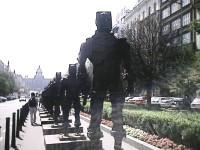Václavské náměstí s legendárními bojovníky