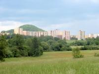 Pohled na Českou Lípu z cyklostezky